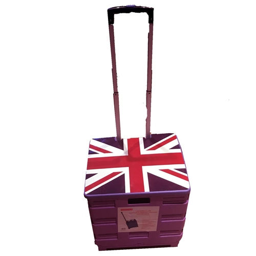 Lid for Pack & Go Trolley Union Jack with cart